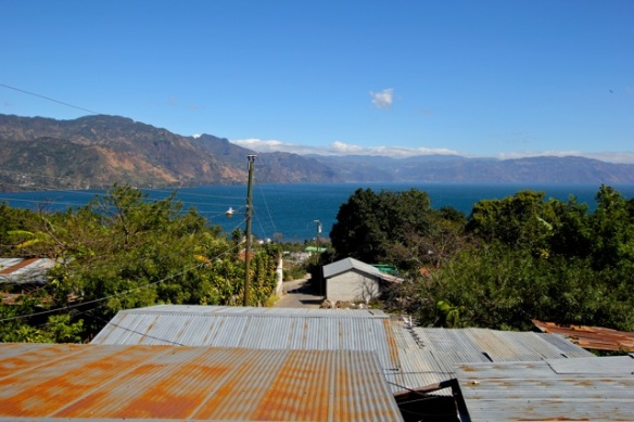 View from our casa over San Pedro and Lake Atitlan