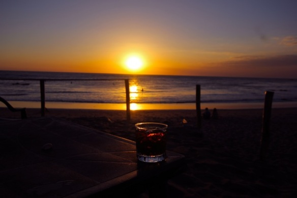 Sunset and rum and coke on the beach....paradise!