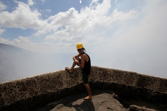 If I conquered the Nicaraguan police, I can conquer this active volcano!