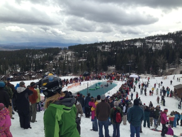 From lazing on a beach to freezing our faces off on the local ski mountain's pond skimming competition